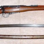 Magazine Lee-Enfield Cavalry Carbine Mark I, with the Sword, Cavalry, Pattern 1899, with scabbard.