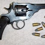 Mark I, Service Revolver. Calibre .455. These were still in use in the Anglo-Boer War. This piece is navy marked.
