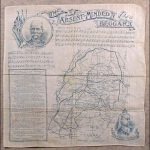 """Souvenir handkerchief featuring Kipling's enormously popular poem, """"The Absent-Minded Beggar""""."""