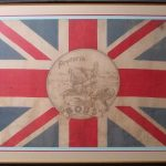 Contemporary souvenir flag celebrating Lord Roberts' capture of Pretoria.