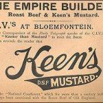 Keen's Mustard advertisement from the War.