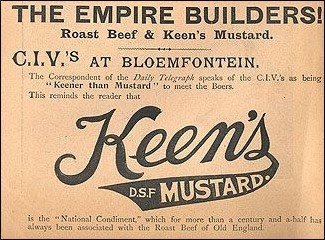 Keen's Mustard advertisement from the War.