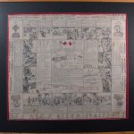 Lee-Metford souvenir handkerchief produced during the War.
