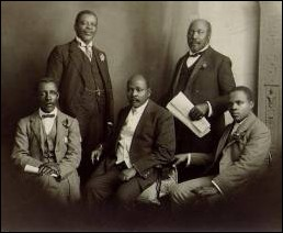 ANC delegation to England, 1914. Plaatje is seated, far right